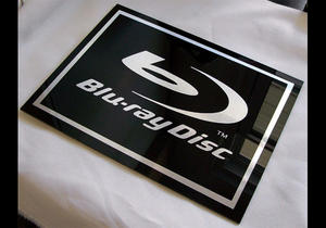 Blu-Ray Acrylic sign