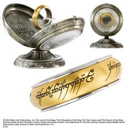 LOTR - One Ring Spinning Stainless Steel- Gold size 10