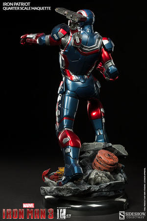 Iron Man 3: Iron Patriot Quarter Scale Maquette