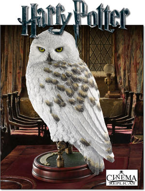 Hedwig Hand painted sculpture
