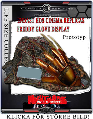 CR Version of Freddy Glove display