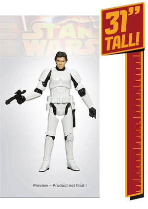 31 inch Giant Size Figure Stormtrooper Han Solo
