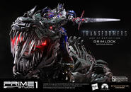 Grimlock Optimus Prime Version Transformers Statue
