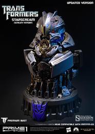Starscream Scream Version Transformers Bust